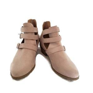 Torrid booties in light tan size 9W
